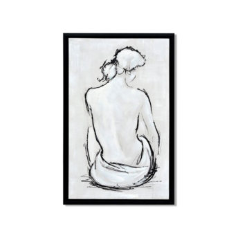 Poised Woman Back Wall Art Canvas 55 cm X 85 cm