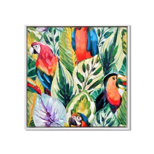 Birds of Fury Wall Art Canvas 85 cm X 85 cm
