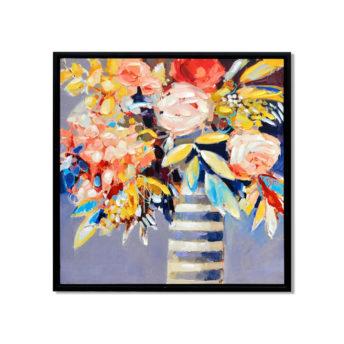Flower Bouquet Wall Art Canvas 65 cm X 95 cm
