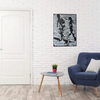 Backscattering Silhouette Wall Art Canvas 98 cm X 138 cm