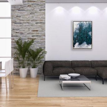 Blues Blurred Wall Art Canvas 65 cm X 95 cm