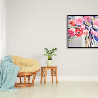 Daisyful Wall Art Canvas 85 cm X 85 cm