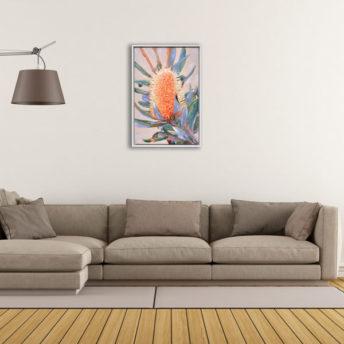 Grain Flower Wall Art Canvas 63 cm X 93 cm