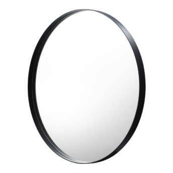 Luxe Thin Black Metal Frame Bathroom Mirror - 600mm or 800mm