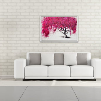 Lone Willow Tree Wall Art Canvas 63 cm X 93 cm