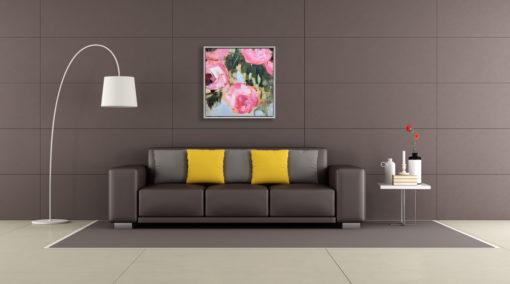 Pink Tulips Wall Art Canvas 105 cm X 105 cm