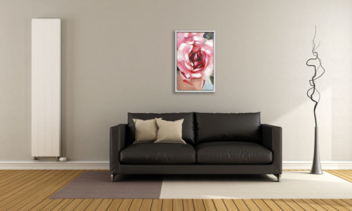 Rose Abstract Wall Art Canvas 55 cm X 85 cm