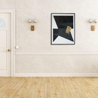Tonality Dark 1 Wall Art Canvas 63 cm X 82 cm