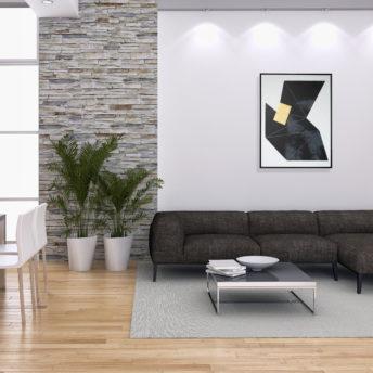 Tonality Dark 3 Wall Art Canvas 63 cm X 82 cm