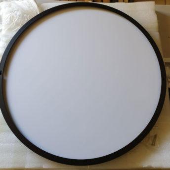 Luxe Thin Black Metal Frame Bathroom Mirror - 600mm or 800mm