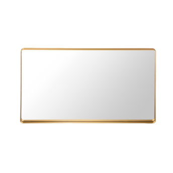 Luxe Thin Brass Gold Metal Frame Bathroom Mirror - 120cm x 80cm