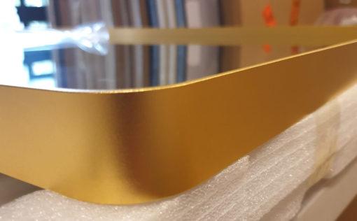 Luxe Thin Brass Gold Metal Frame Bathroom Mirror - 120cm x 80cm