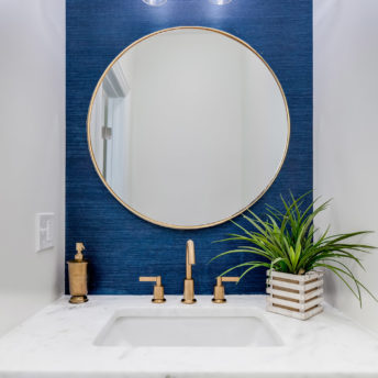 Luxe Thin Brass Gold Round Metal Frame Bathroom Mirror - 60cm or 80cm