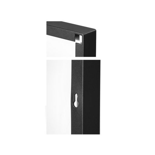 Luxe Thin Black Metal Frame Bathroom Mirror - 120cm x 80cm