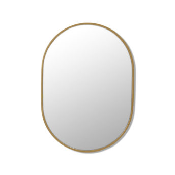 Pill Shape Satin Brass Stainless Steel Framed Mirror - 70CM, 90CM, 100CM, 150CM