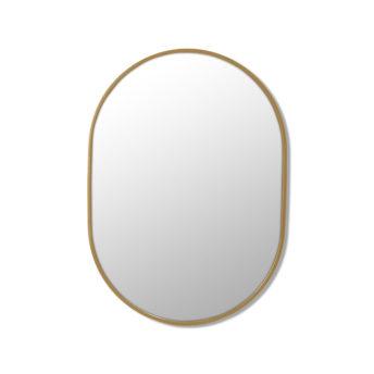 Pill Shape Satin Brass Stainless Steel Framed Mirror - 70CM, 90CM, 100CM, 150CM