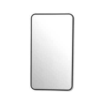 Radius Corner Black Stainless Steel Framed Mirror - 100CM, 120CM