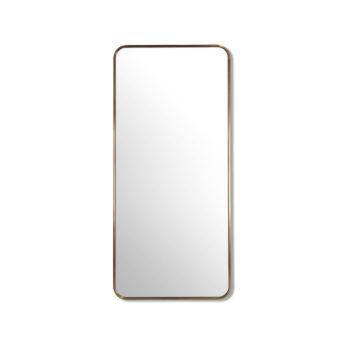 Radius Corner Satin Brass Stainless Steel Framed Mirror - 100CM, 120CM