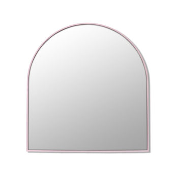 Arch Shape Pink Stainless Steel Framed Mirror - 80cm x 76cm