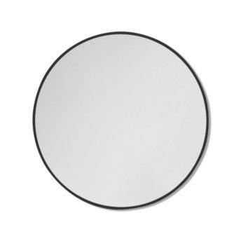Round Black Stainless Steel Framed Mirror - 60CM, 80CM, 90CM