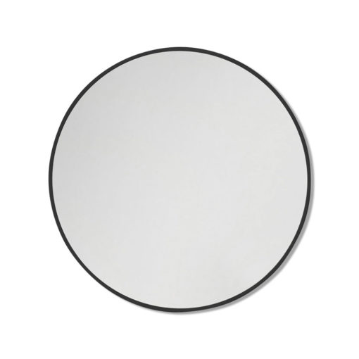 Round Black Stainless Steel Framed Mirror - 60CM, 80CM, 90CM