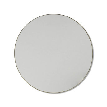 Round Satin Brass Stainless Steel Framed Mirror - 60CM, 80CM, 90CM