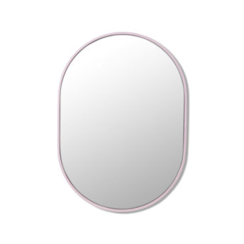 Pill Shape Pink Stainless Steel Framed Mirror - 70CM, 90CM, 100CM, 150CM