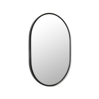 Pill Shape Black Stainless Steel Framed Mirror - 70CM, 90CM, 100CM, 150CM