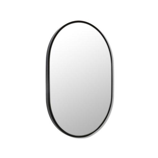 Pill Shape Black Stainless Steel Framed Mirror - 70CM, 90CM, 100CM, 150CM