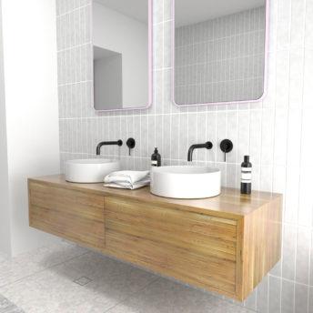 Radius Corner Pink Stainless Steel Framed Mirror - 100CM