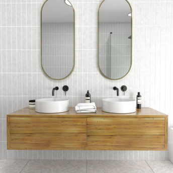 Pill Shape Satin Brass Stainless Steel Framed Mirror - 100CM