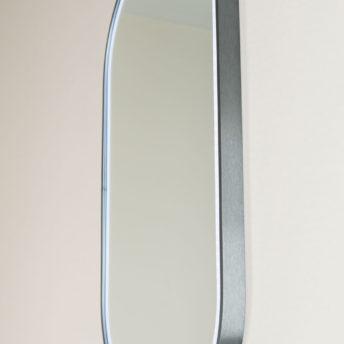 Gatsby Pill Shaped LED with Gun Metal Frame - 45CM x 90CM