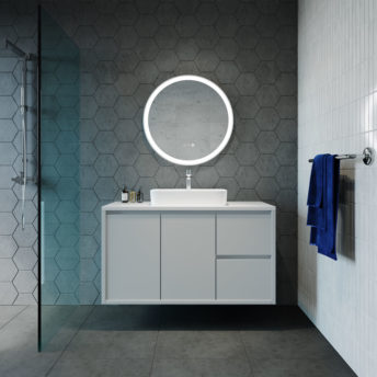 Eclipse Frontlit LED Mirror With White Frame - 60cm / 80cm