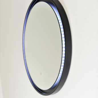 Eclipse Frontlit LED Mirror With Black Frame - 60cm / 80cm
