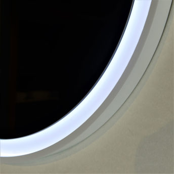 Eclipse Flex Dimmable Frontlit Mirror with Black Frame - 60cm / 80cm