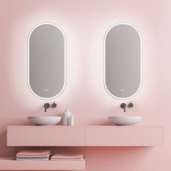 Gatsby Pill Shaped LED Frameless Mirror 45CM x 90CM
