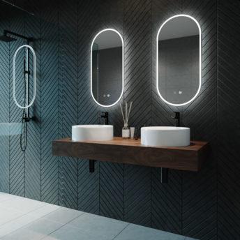 Gatsby Pill Shaped LED Frameless Mirror 45CM x 90CM