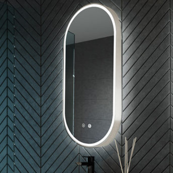 Gatsby-brushed-nickel-led mirror