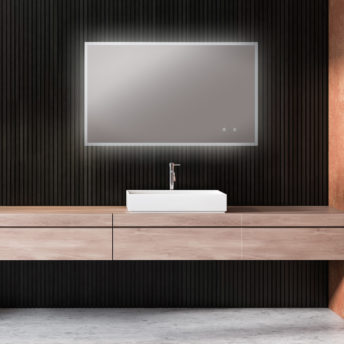 Kara Premium LED Mirror with Demister and Colour Switch - (90cm x 60cm) or (120cm x 75cm)