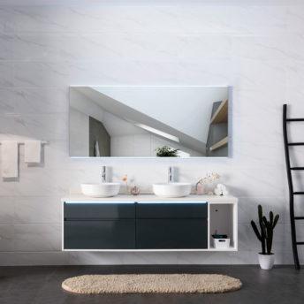 Lucy LED Mirror with Demister in Frameless - (90cm x 70cm), (120cm x 75cm) or (150cm x 85cm)