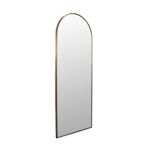 Arch Leaner Dressing Satin Brass Stainless Steel Framed Mirror - 60CM, 76CM