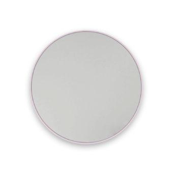 Round Pink Stainless Steel Framed Mirror