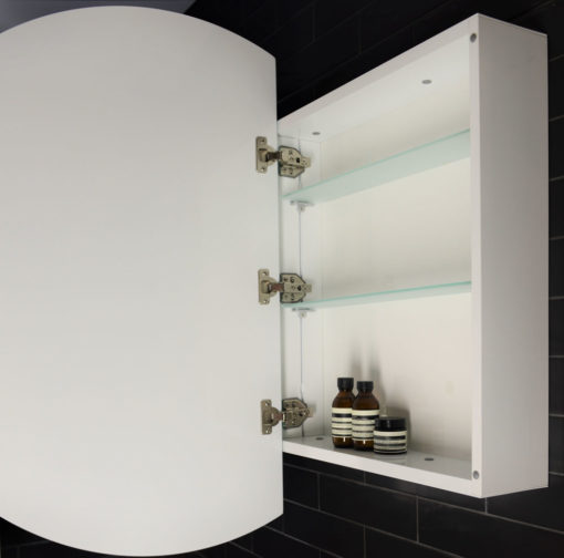 Pearl LED Mirrored Cabinet with Demister - 90cm Dia