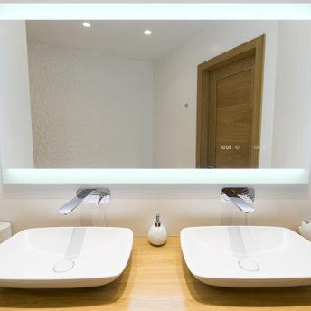 Miro Deluxe LED Mirror with Demister in Frameless - (120cm x 70cm) or (150cm x 75cm)