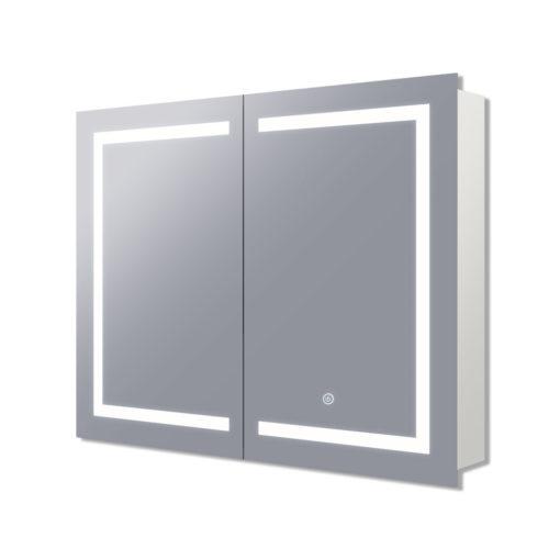 Vera LED Mirrored Cabinet with Demister - (75cm x 70cm), (90cm x 70cm), (120cm x 70cm), or (150cm x 70cm)
