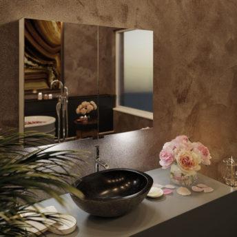 LED Mirror Cabinet – (90cm x 70cm)