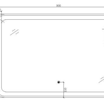 LED Mirror – 90cm x 60cm