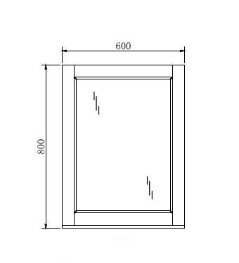 Mirror Manhattan – 60cm x 80cm
