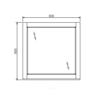 Mirror Manhattan – 80cm x 80cm