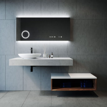 Miro Chic LED Mirror with Magnifier in Frameless - 120cm x 70cm